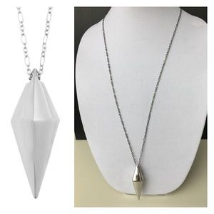 Rebecca Minkoff Pyramid Pendant Long Necklace BNWT