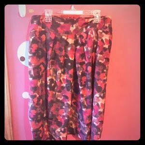 Jones New York Dresses & Skirts - Plus size floral pleated skirt