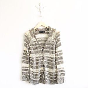 rag & bone Sweaters - Rag & Bone Striped Open Knit Cardigan Sweater