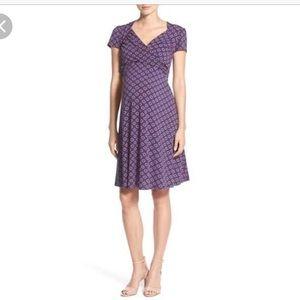 Leota Dresses & Skirts - Leota Navy  Maternity Sweatheart dress s