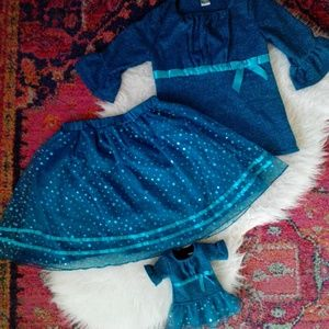 Dollie & Me Other - Girls Size 14 Dollie & Me Sweater Skirt & Dress