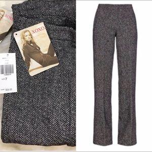 XOXO Pants - Xoxo Wool Tweed Trousers