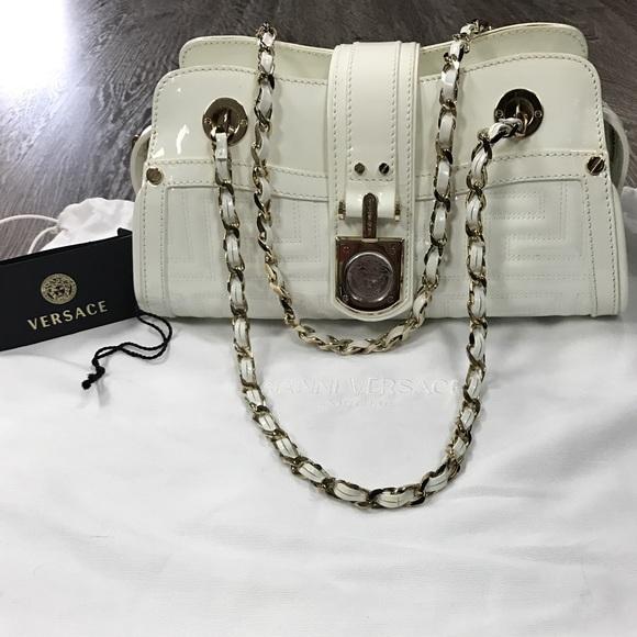 2eb262558923 gianni versace Handbags - Authentic Gianni Versace Vernice patent white bag