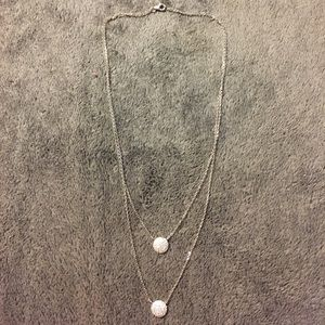 Jewelry - Stunning.925 stunning silver double necklace.