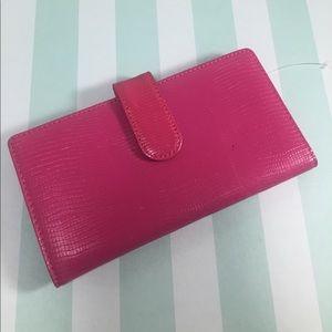 Handbags - 100% Genuine Leather Pink Animal Embossed Wallet