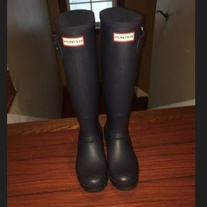 Hunter Boots Shoes - Navy Blue! Hunter Rain boots💙