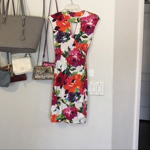 Cache white floral spring dress 💕 🌺