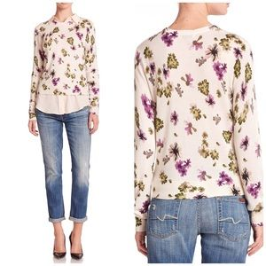 Equipment Sloane Floral Silk & Cashmere Sweater