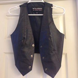 Wilsons Leather Jackets & Blazers - Vintage Wilson Leather Moto Biker Vest