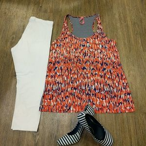 Eight Sixty Tops - Summer mixed material tank