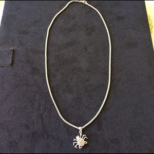 Jewelry - 925 /cubic spider necklace.