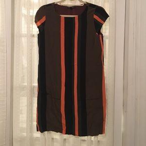 Striped Silk Madewell Shift Dress