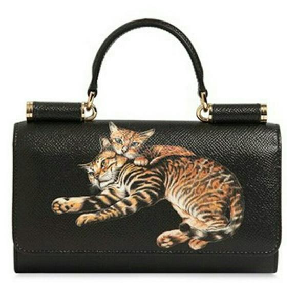 afd65609eefe Dolce   Gabbana Handbags - EUC Dolce   Gabbana Sicily Von cat print clutch