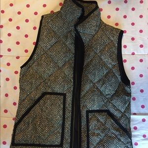 Jcrew Herringbone Puffer Vest