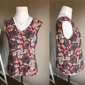 {Silence + Noise} Floral Top