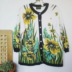 Bob Mackie Sweaters - BOB MACKIE // Floral Cardigan