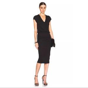 James Perse Dresses & Skirts - James Perse Shirred Black Dress