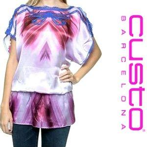Custo Barcelona Tops - Silk Cold Shoulder Tunic