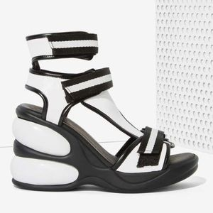 Jeffrey Campbell Shoes - JEFFREY CAMPBELL WALK TALL WEDGE SANDAL NASTY GAL
