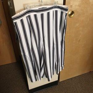 Eloquii Pants - Striped Culottes