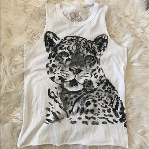 Chaser Tops - Chaser Turquoise Eyed Leopard Tank