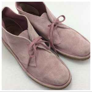 Clarks Shoes - Clark Desert Boot - Pink