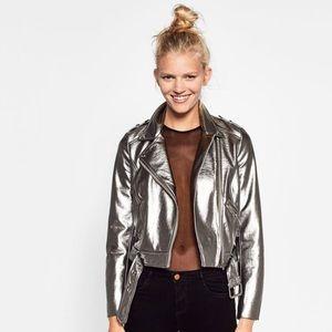 Zara Jackets & Blazers - 🆕 Zara metallic jacket