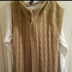 LANE BRYANT W Plus Size 18/20 cable knit cardigan.
