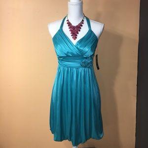 Trixxi Dresses & Skirts - 💥host pick💥NWT Trixxi Aqua Halter Dress