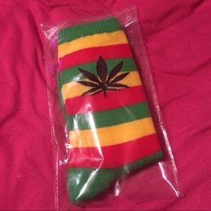 Accessories - Rasta Jamaican Marijuana Print Socks 420 Weed