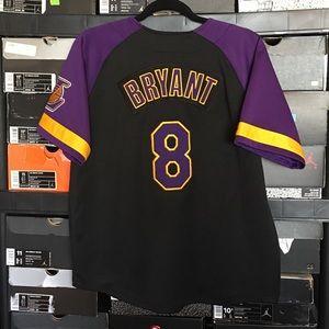 Nike LA Lakers Kobe Bryant Baseball Jersey