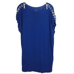 ☀️Kenzie Royal Blue Banded Jersey Dress Medium