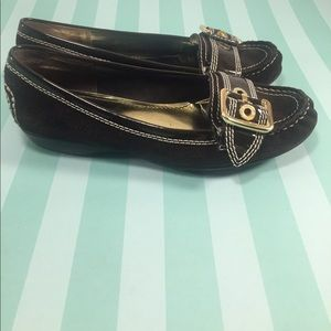 Etienne Aigner Shoes - ETIENNE AIGNER Brown Leather Moccasin Loafers