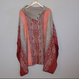 Caslon Sweaters - NWT Caslon poncho from Nordstrom 2X/3X