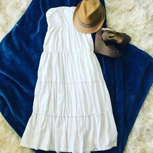 Soma Dresses & Skirts - Soma Bandeau Tiered Midi Dress