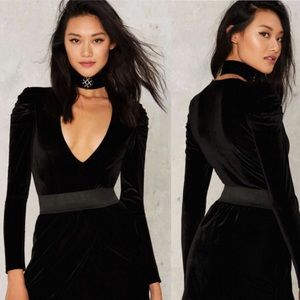 Nasty Gal Deep It Moving Velvet Bodysuit