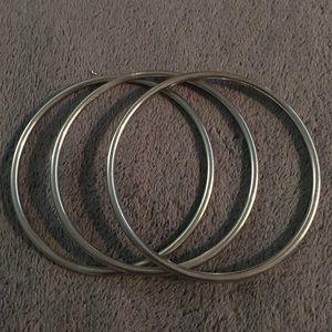 Jewelry - NWOT 3 stainless steel bangle bracelets