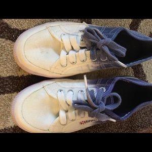 Superga Shoes - Superga tie dye (white and blue) sneakers..