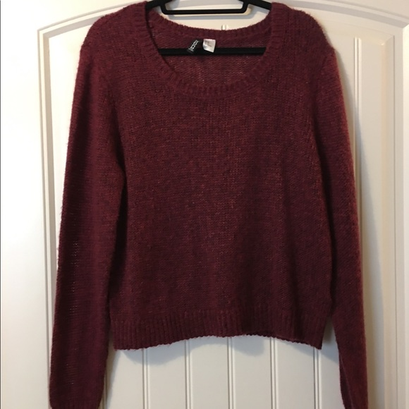 H&M Sweaters - H&M Maroon Knit Sweater