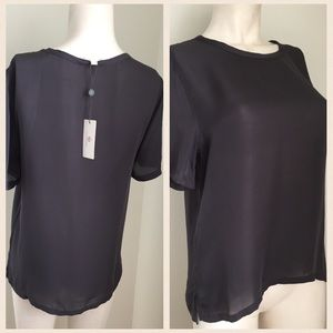 AG Adriano Goldschmied Tops - AG grey sheer top