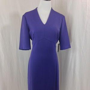Tahari Dresses & Skirts - Tahari Purple Melange Woven Career Sheath Dress