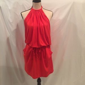 Echo Other - Swimsuit Cover up Red w/pockets & open back NWOT