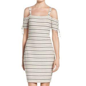 Greylin Dresses & Skirts - Greylin•Striped Cold Shoulder Dress