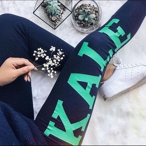 "Navy ""Kale"" Leggings"