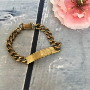 Jewelry - Chunky Gold ID Style Link Bracelet - Engrave it!