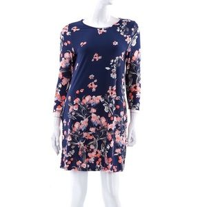 Dresses & Skirts - Navy Floral Dress with Pockets