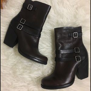 •Kork Ease $220 Moto ankle boots size 8•