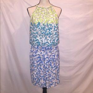 Maggy London Sleeveless Jewel Neckline Dress EUC
