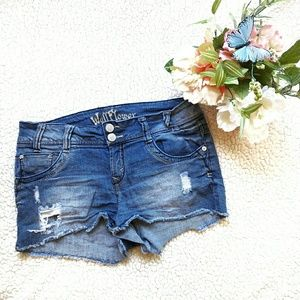 Wallflower Pants - Distressed denim shorts by Wallflower