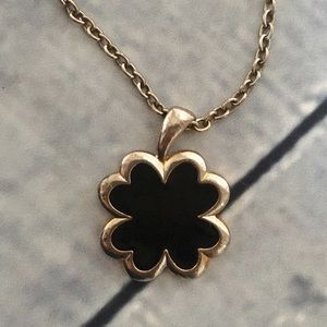 Jewelry - Long Necklace with 4 Leaf Clover Pendant